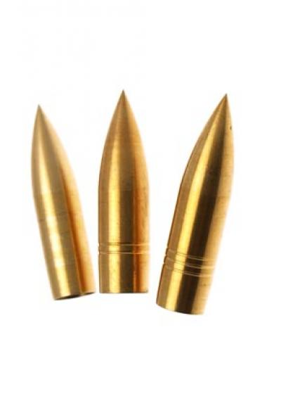 Tophat brass bullet points