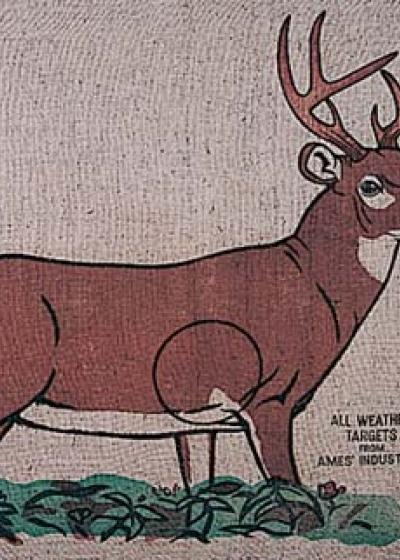 Burlap Deer I