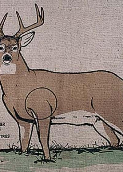 Burlap Deer II
