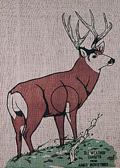 Burlap Deer III